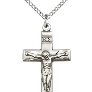 Sterling Silver Crucifix Necklace #87447