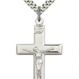 Sterling Silver Crucifix Necklace #87479