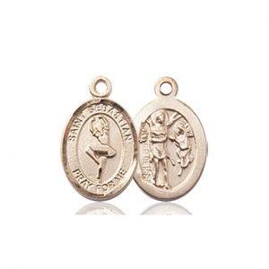 14kt Gold St. Sebastian/Dance Medal