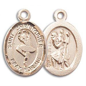 Christopher Dance Medal Charm - 14 Karat Gold Filled (#M0062)