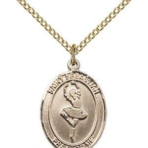 Gold Filled St. Sebastian/Dance Pendant