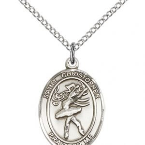 Sterling Silver St Christopher / Dance Pendant
