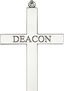 Sterling Silver Deacon Cross Necklace #87827
