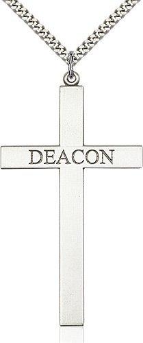 Sterling Silver Deacon Cross Necklace #87827