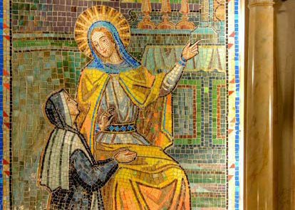 Detail of Mosaic of the First Apparition of the miraculous medal