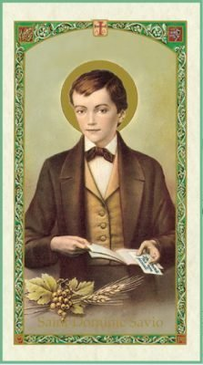 St Dominic Savio Holy Card