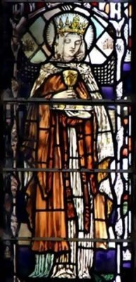 St Edburga Stained Glass Window