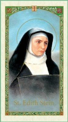 St. Edith Stein Holy Card