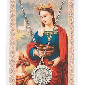 Elizabeth Of Hungary Pendant Holy Card 19117