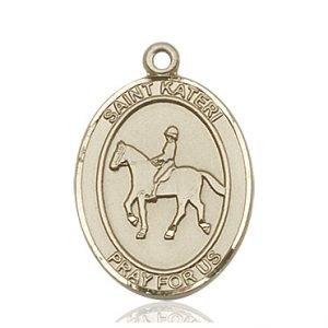14kt Gold St. Kateri / Equestrian Medal