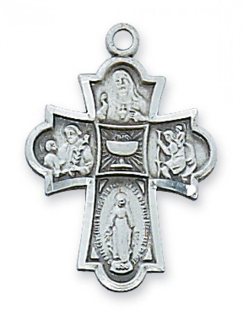 Eucharistic Five Way Medal Pewter