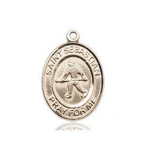 14kt Gold St. Sebastian/Field Hockey Medal