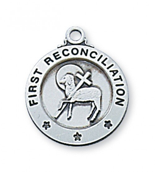 First Reconciliation Pendant Silver