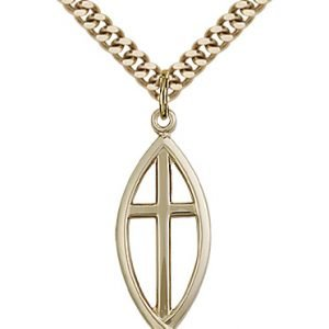 Gold Filled Fish - Cross Necklace #87632