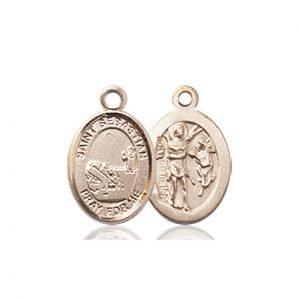14kt Gold St. Sebastian / Fishing Medal