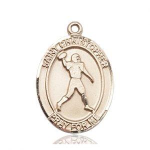 14 KT Gold St. Christopher Medal
