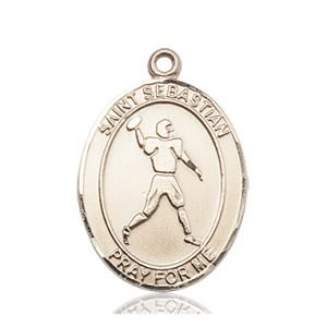 14 KT Gold St. Sebastian Medal