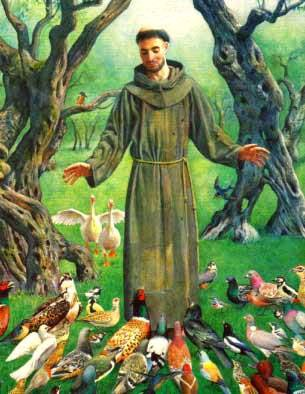 Image of St Francis and the Birds