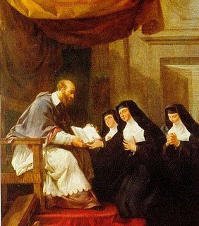 St Francis de Sales with Religious sisters