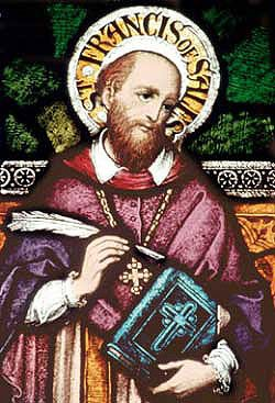 Saint Francis de Sales with Quill