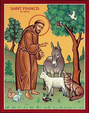 St. Francis and Animals Icon