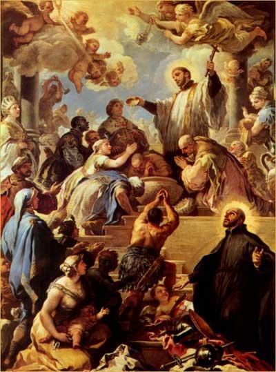 St Francis Xavier Baptising Converts