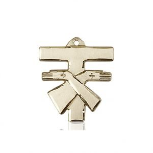 14kt Gold Franciscan Cross Medal #88089