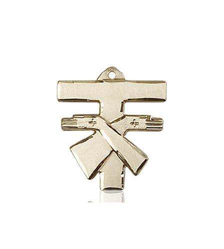 14kt Gold Franciscan Cross Medal #88089