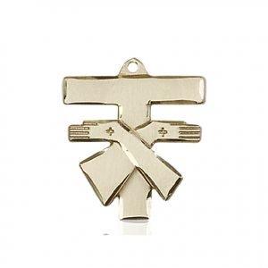 14kt Gold Franciscan Cross Medal #88093