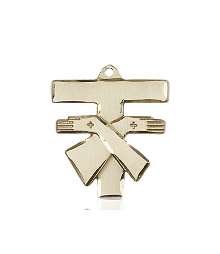 14kt Gold Franciscan Cross Medal #88093
