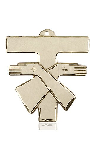 14kt Gold Franciscan Cross Medal #88097