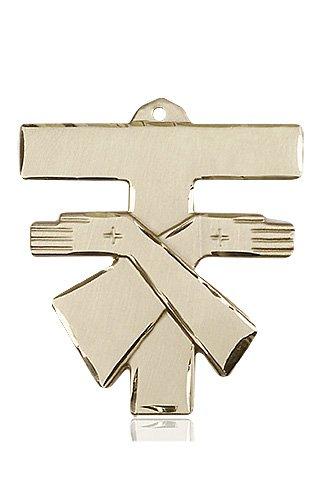 14kt Gold Franciscan Cross Medal #88097