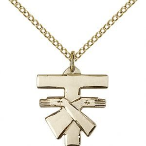 Gold Filled Franciscan Cross Necklace #88087