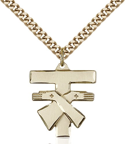 Gold Filled Franciscan Cross Necklace #88091