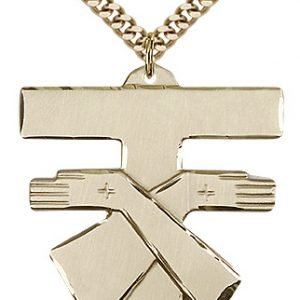 Gold Filled Franciscan Cross Necklace #88095