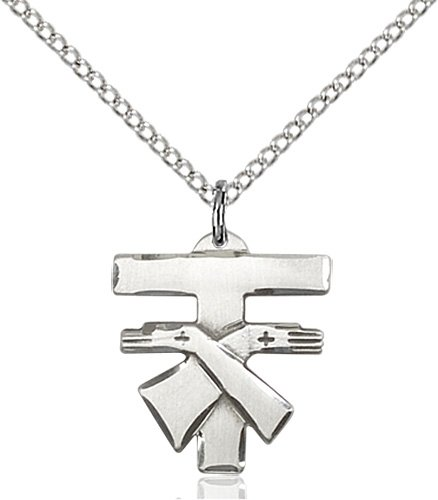 Sterling Silver Franciscan Cross Necklace #88090
