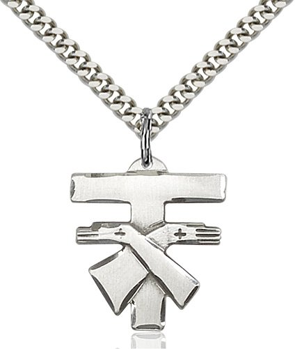 Sterling Silver Franciscan Cross Necklace #88094