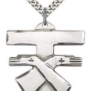 Sterling Silver Franciscan Cross Necklace #88098