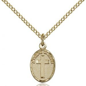 Gold Filled Friend In Jesus Cross Necklace #87348