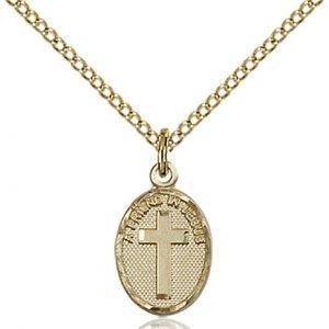 Gold Filled Friend In Jesus Cross Necklace #87348