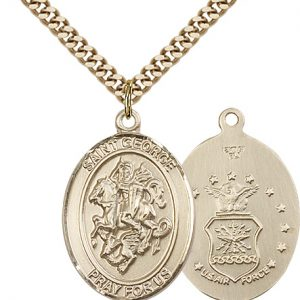 14kt Gold Filled St. George Pendant