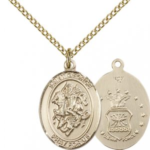 14kt Gold Filled St. George - Air Force Pendant