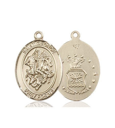 14kt Gold St. George - Air Force Medal