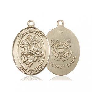 14kt Gold St. George - Coast Guard Medal