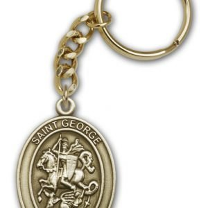 Antique Gold St George Keychain