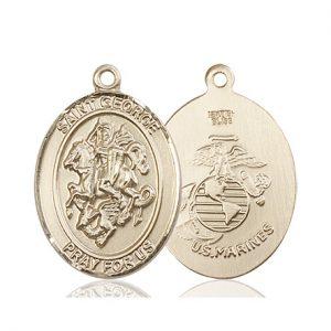 14kt Gold St. George Medal