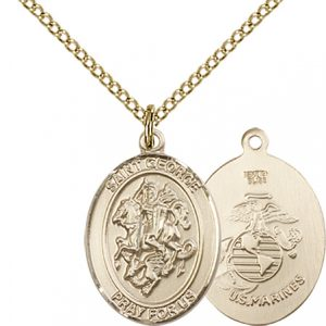 14kt Gold Filled St. George - Marines Pendant