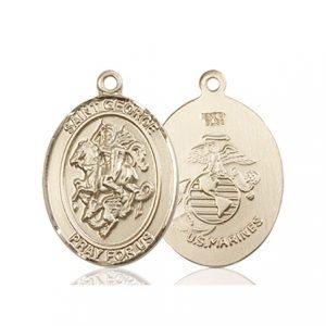 14kt Gold St. George - Marines Medal