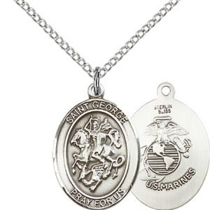 Sterling Silver St. George - Marines Pendant
