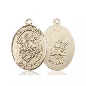 14kt Gold St. George - Navy Medal